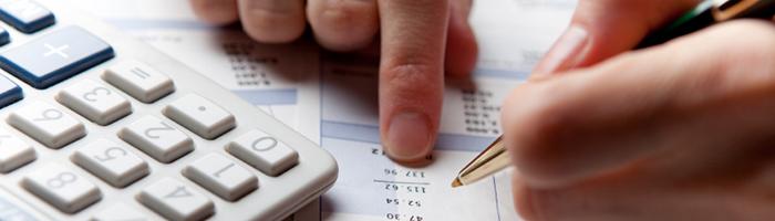 Examining and calculating the financial data