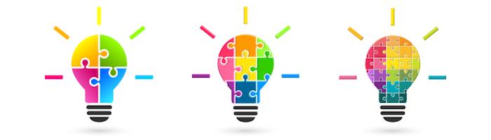 複数のアイデア、結合、ひらめき、多様性
