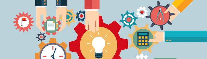 アイデア、ビジネスプラン、歯車