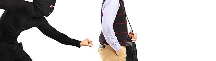 財布を盗む、スリ
