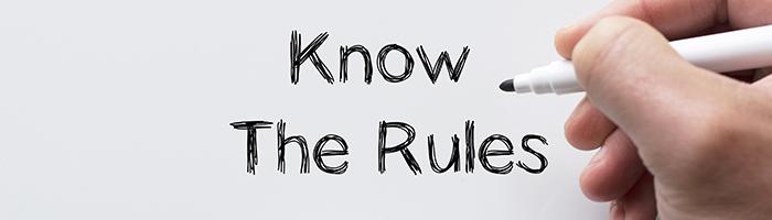 ルールを知る